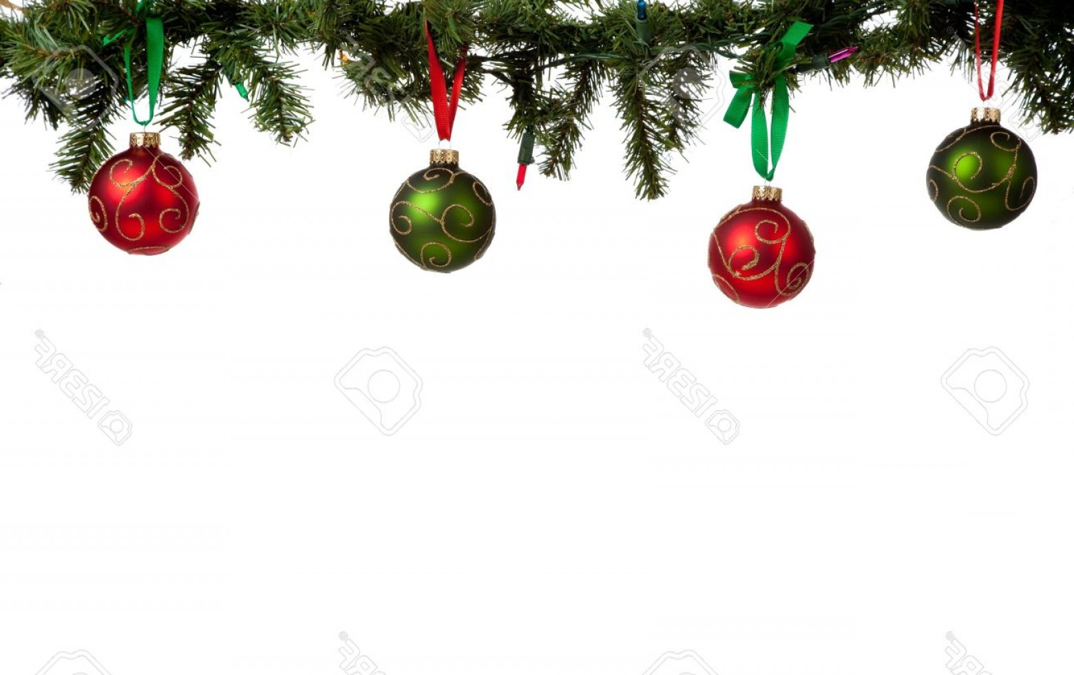 1560x981 Photoa Christmas Ornament Border With Red And Green Glittered