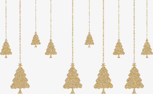 488x299 Vector Golden Christmas Tree Hanging, Christmas Vector, Tree