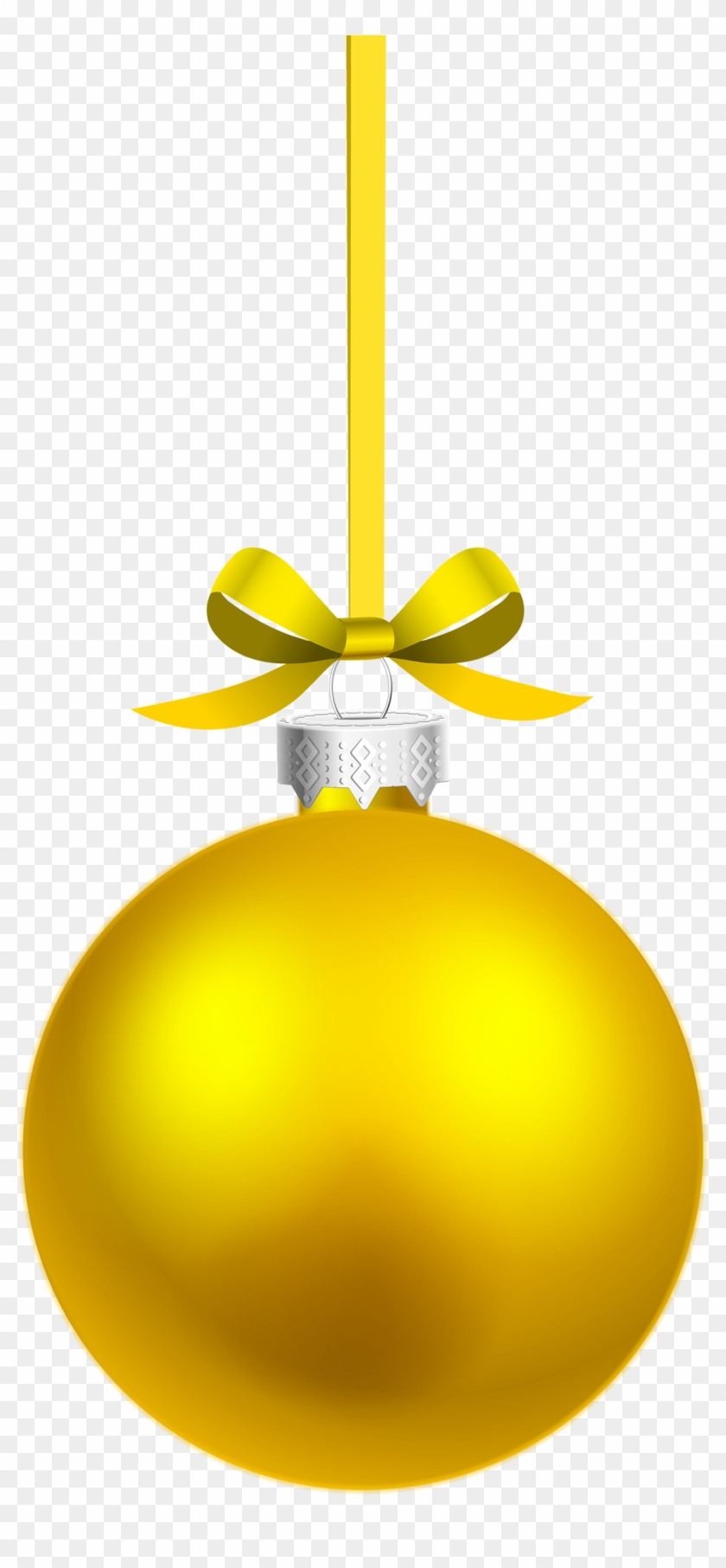 840x1813 Yellow Christmas Ornaments Vector Png