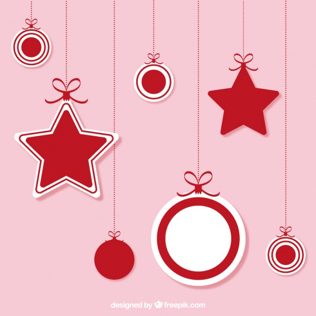 626x626 Christmas Hanging Ornaments Vector Free Download