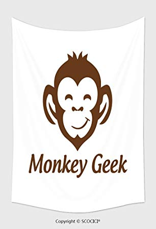 306x450 Home Decor Tapestry Wall Hanging Monkey Geek Monkey