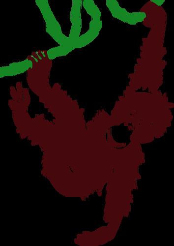 354x500 Hanging Monkey Vector Clip Art Public Domain Vectors