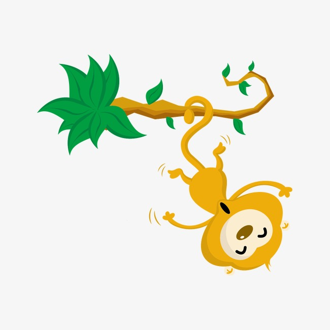 650x650 Monkey Hanging On The Vines, Monkey Vector, Monkey, Vines Png And