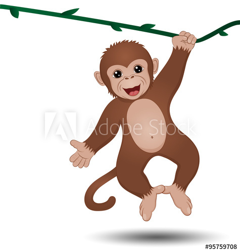 475x500 Monkey Hanging On A Branch