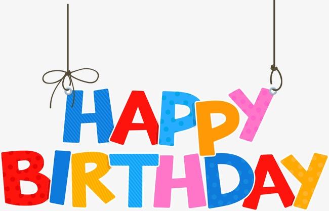 650x417 Vector Happy Birthday Wordart, Happy Birthday Wordart, Wordart