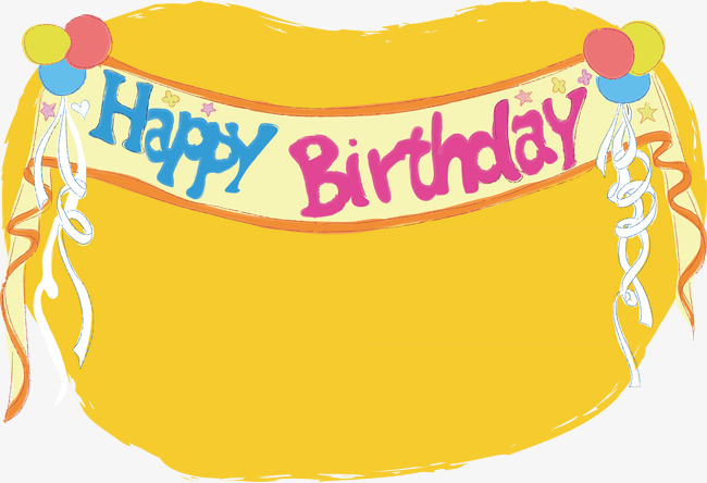650x444 Happy Birthday Background, Happy Birthday, Vector, Yellow Png And