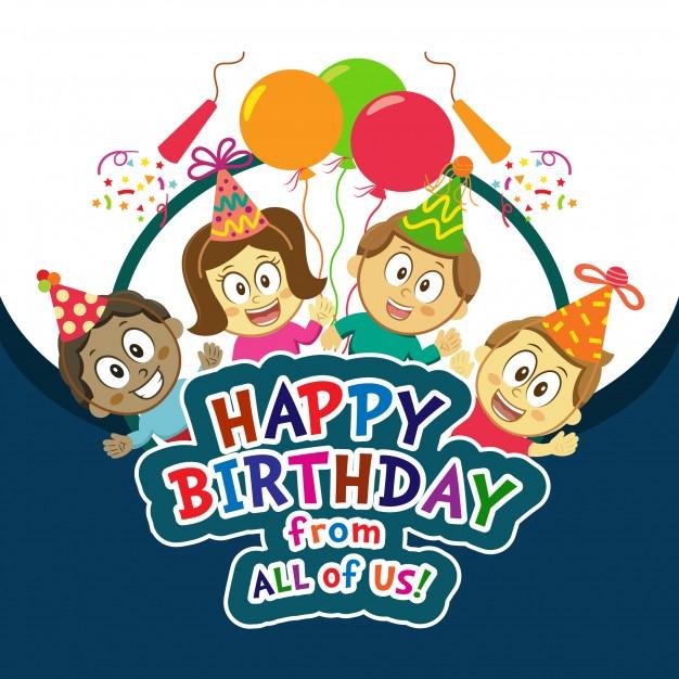 626x626 Happy Birthday Vector Free Download Kids Happy Birthday Background