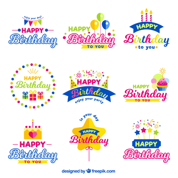 Happy Birthday Vector Free At Getdrawings Com Free For Personal