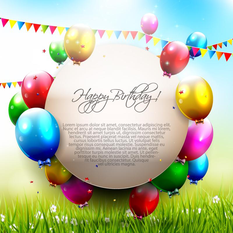 800x800 Circle Happy Birthday Color Balloon Vector Free Download