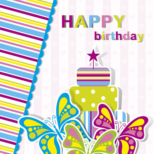 500x500 Happy Birthday Elements Card Vector 03 Free Download
