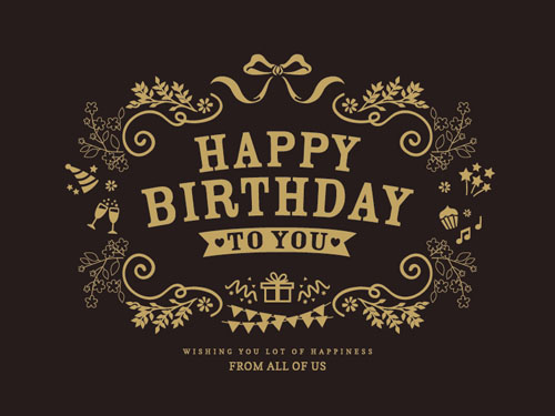 Happy Birthday Vintage Vector At Getdrawings Com Free For Personal