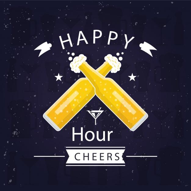 626x626 Happy Hour Background Vector Premium Download