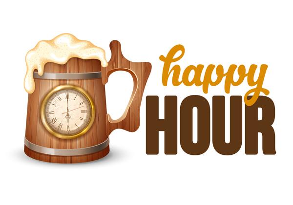 600x421 Happy Hour Beer Background Vector Free Download