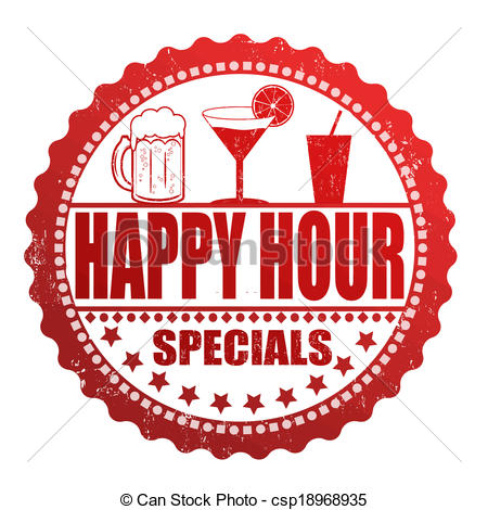 450x470 Happy Hour Specials Stamp. Happy Hour Specials Grunge Rubber Stamp