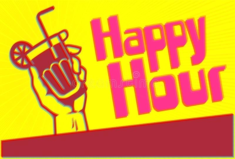 800x541 Poster Template Free Download Happy Hour Cocktail Party Flyer With