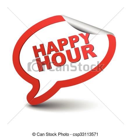 450x470 This Is Red Vector Element Bubble Happy Hour.