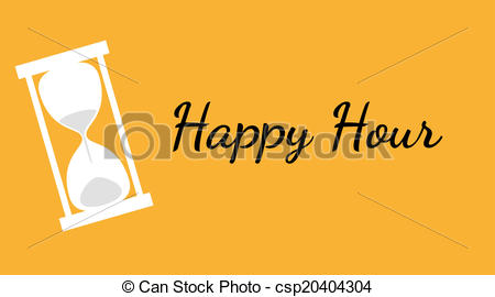 450x270 Vector Of The Happy Hour Background With Clock.