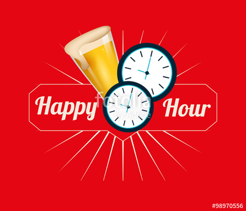 500x428 Happy Hour Design Stock Image And Royalty Free Vector Files On
