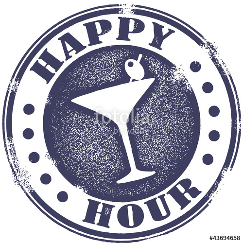 500x500 Happy Hour Cocktail Stamp Stock Image And Royalty Free Vector
