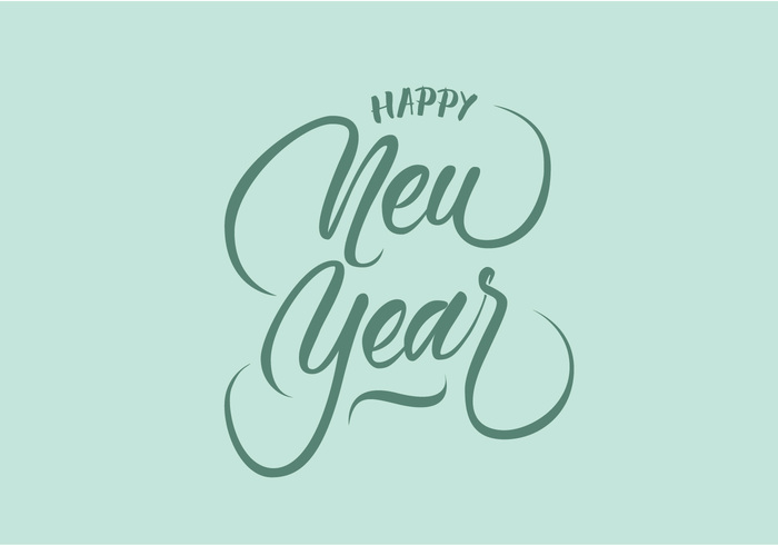 700x490 Happy New Year Vector Hand Lettering 131646