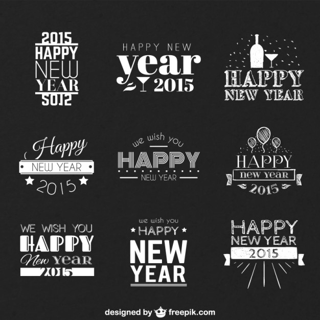 626x626 Happy New Year Greetings Vector Free Download