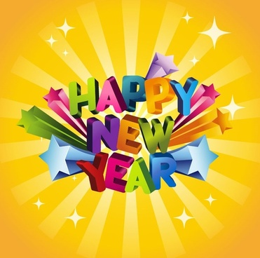 371x368 Happy New Year 3d Text Free Vector Download (15,008 Free Vector