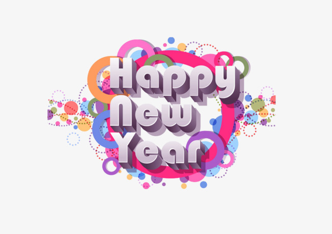 650x459 English Happy New Year Vector, New Vector, Happy, New Png And