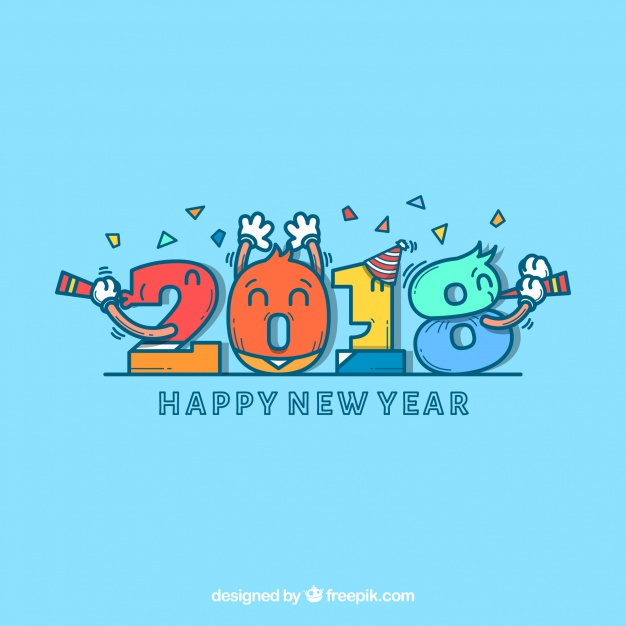 626x626 new year background with numbers vector free download