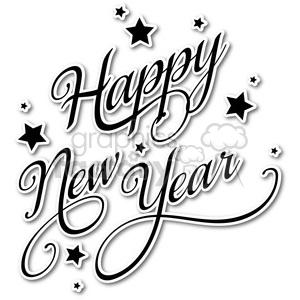 300x300 Royalty Free Happy New Year Vector Word Art Sticker 400429 Vector