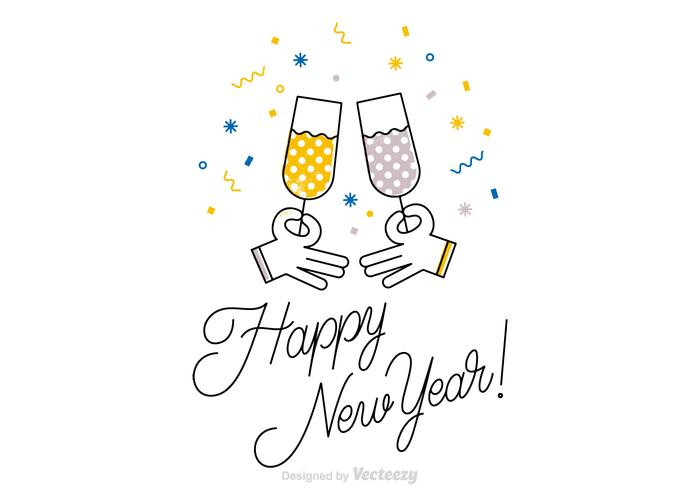 700x490 Free Happy New Year Vector Card