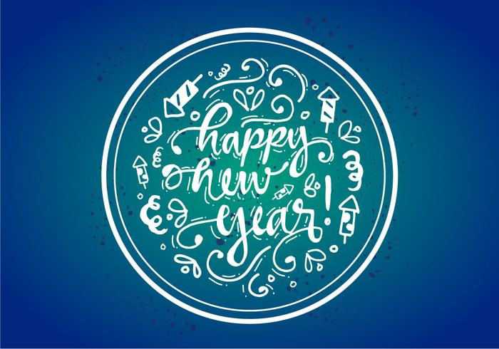 700x490 Free Happy New Year Vector Poster