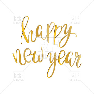 400x400 Golden Text Happy New Year Vector Image Vector Artwork Of Fonts
