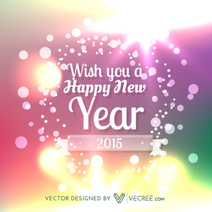 Happy New Year Vector Free