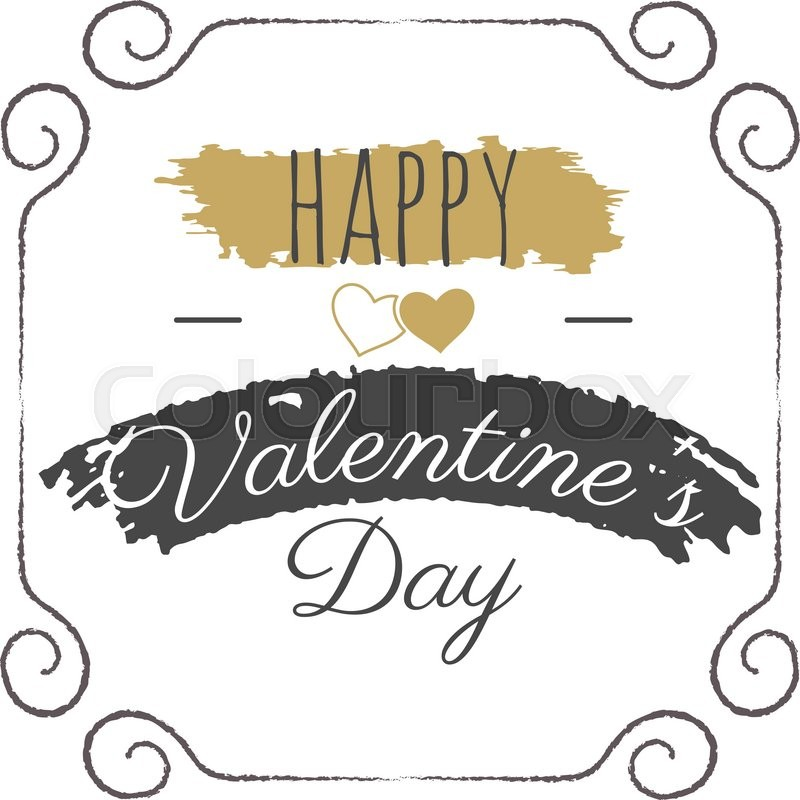 800x800 Happy Valentines Day Vector Lettering. Typography Photo Overlay