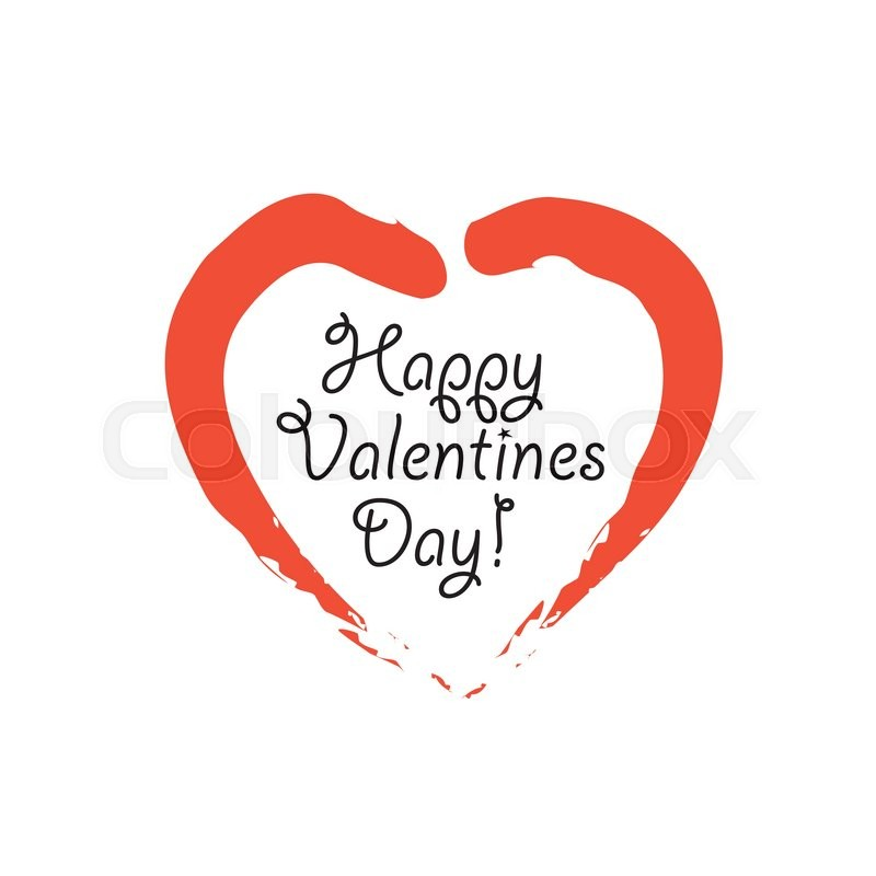 800x800 Happy Valentines Day Vector Graphic With Handwritten Love Or Heart