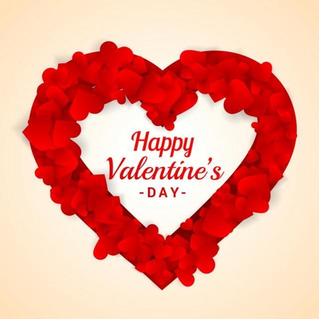 640x640 Heart Frame For Valentines Day Vector Design Illustration, Love