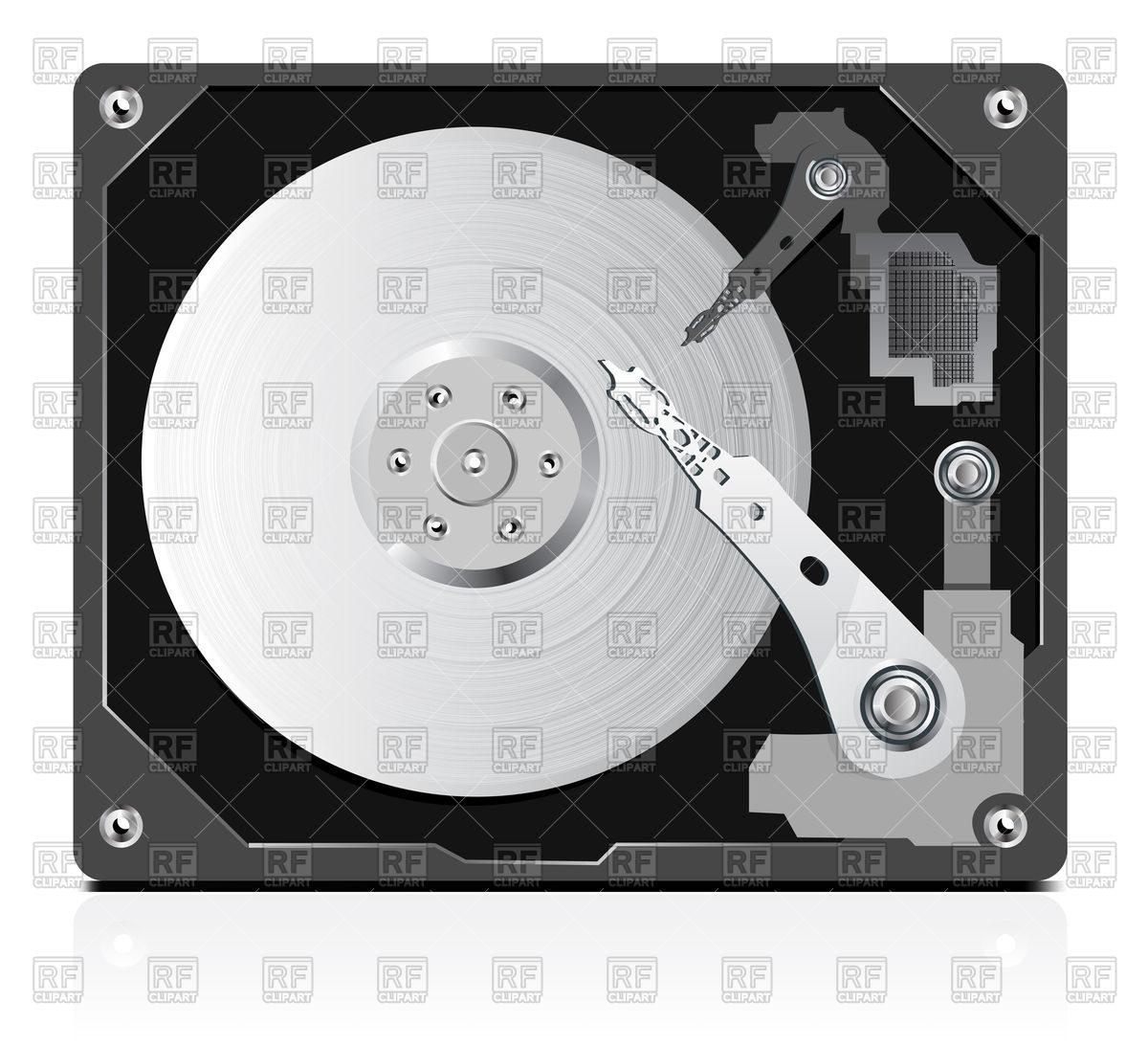 1200x1093 Hard Disk Vector Image Vector Artwork Of Objects Sermax55