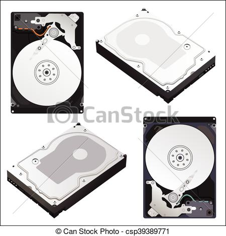 450x470 Hard Drives. Vector Illustration Of A Hard Drive On An Isolated