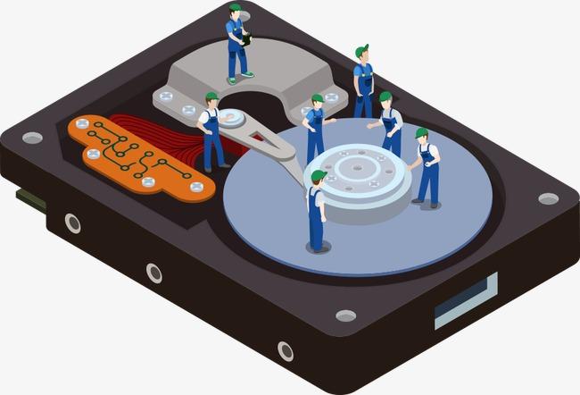650x442 Vector Hard Disk Repair, Creative Service, Character, Creative