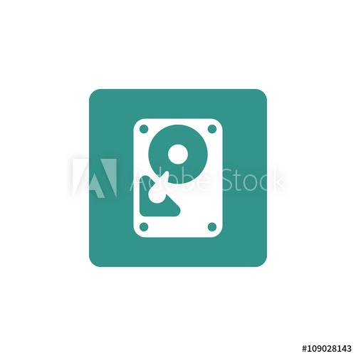 500x500 Hard Drive Icon, Hard Drive Symbol, Hard Drive Vector, Hard Drive