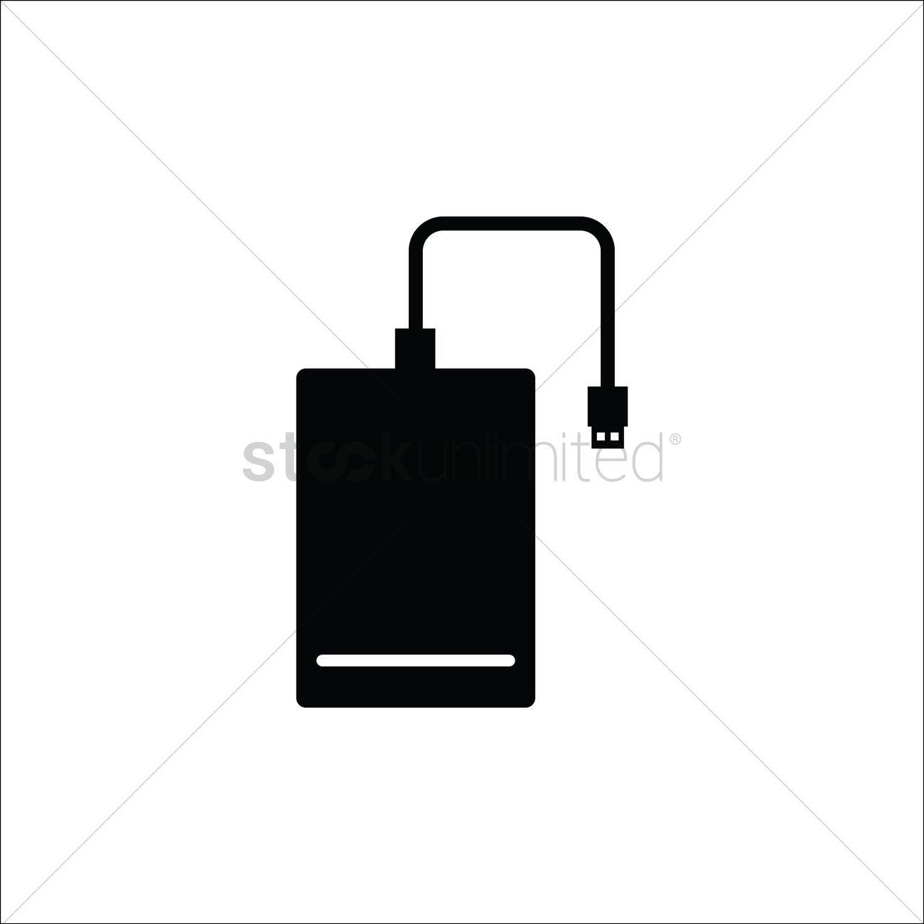 1300x1300 External Hard Drive Vector Image