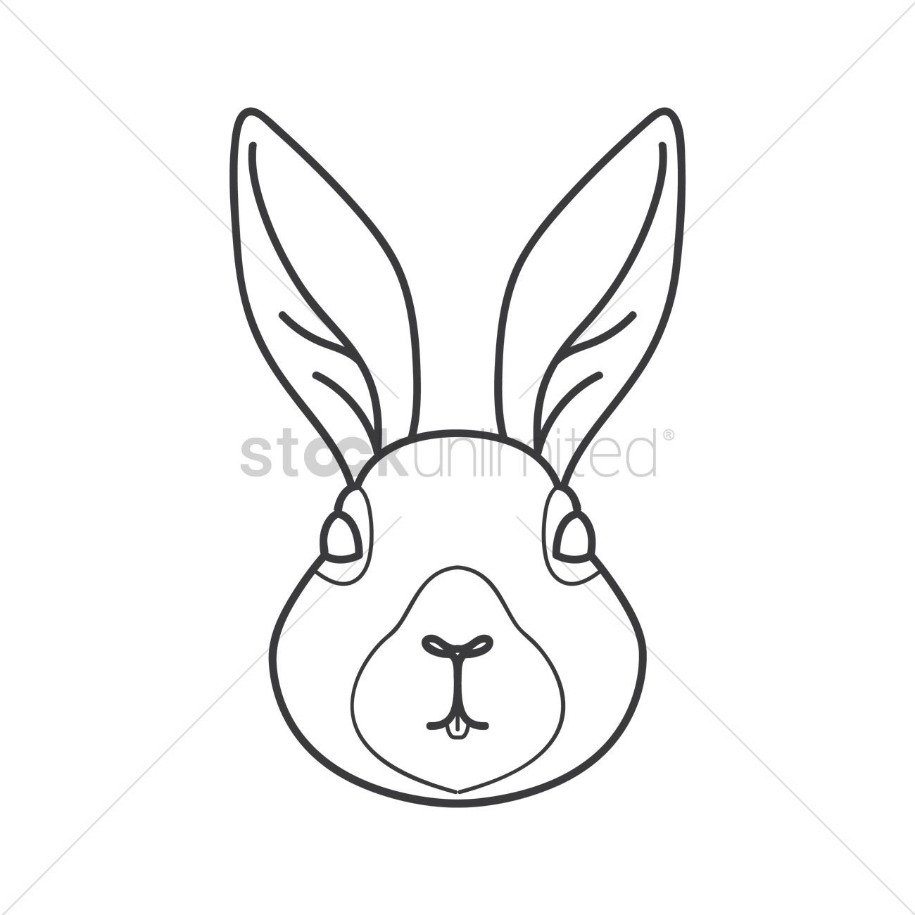 1300x1300 Hare Vector Image