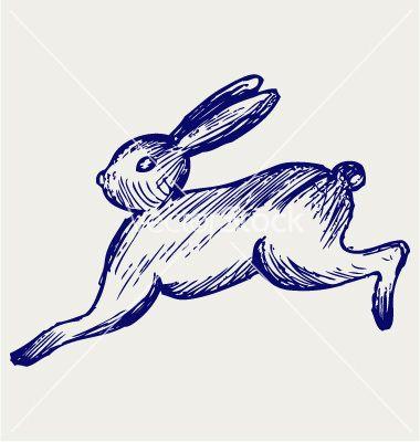 380x400 Running Hare Vector 1118187