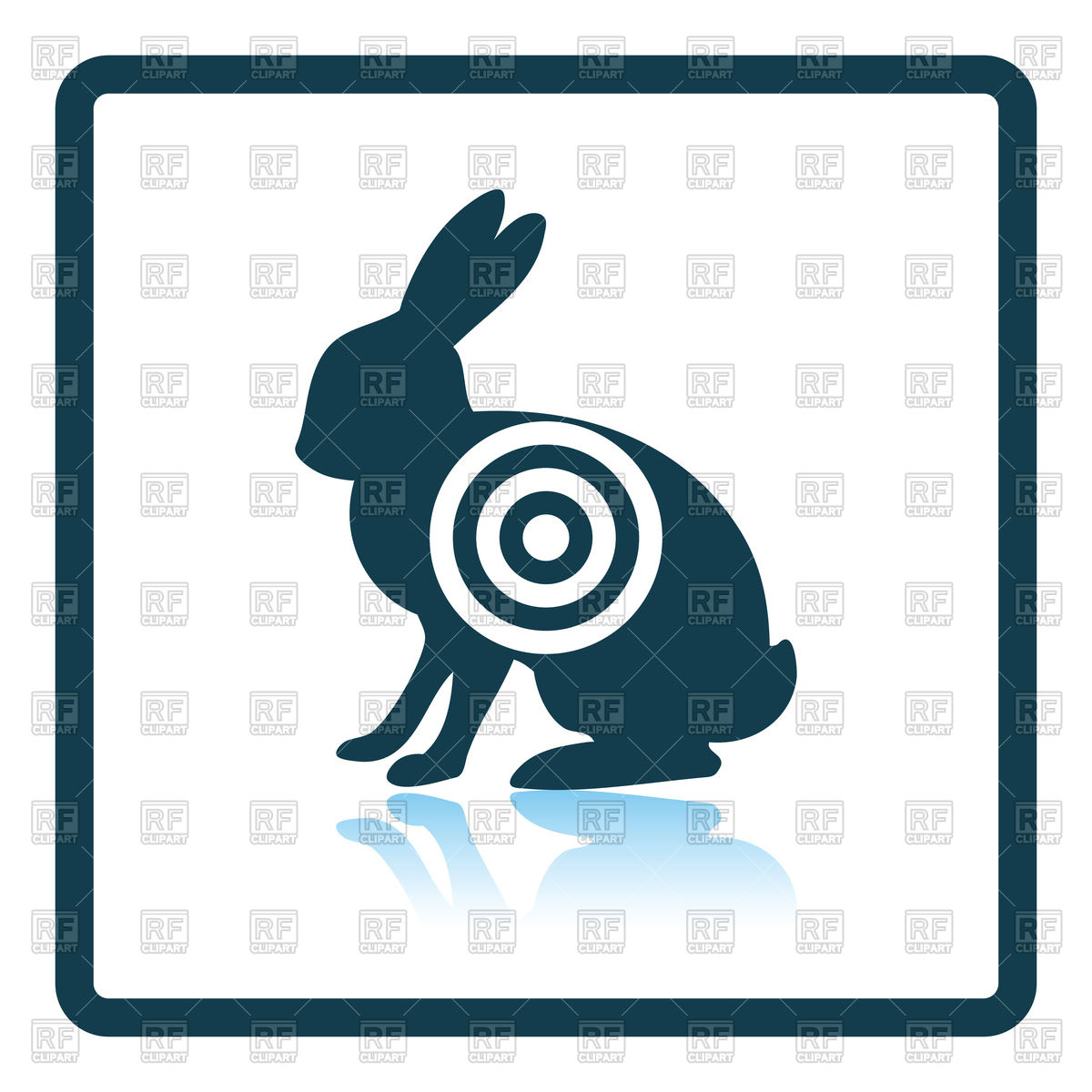 1200x1200 Shadow Reflection Design Of Hare Silhouette With Target Icon