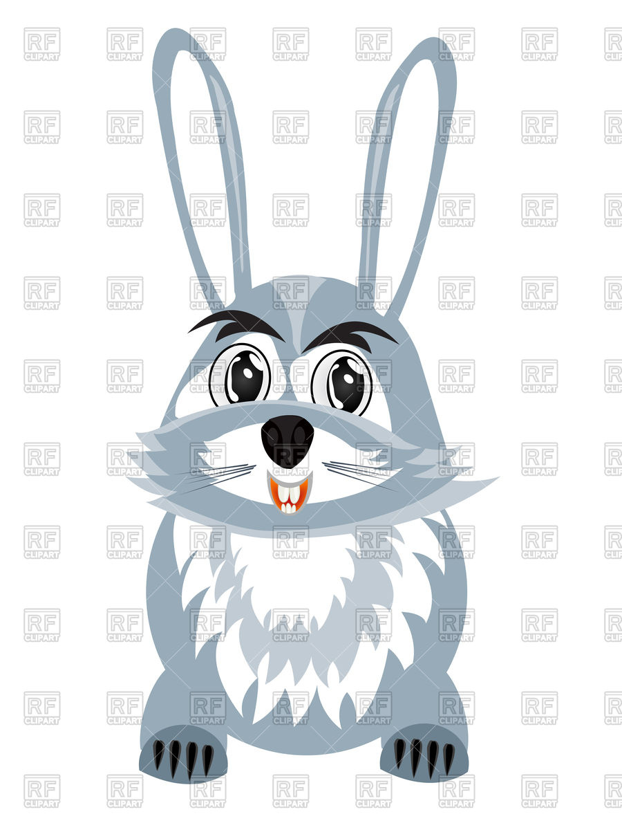900x1200 Happy Cartoon Hare Vector Image Vector Artwork Of Plants And