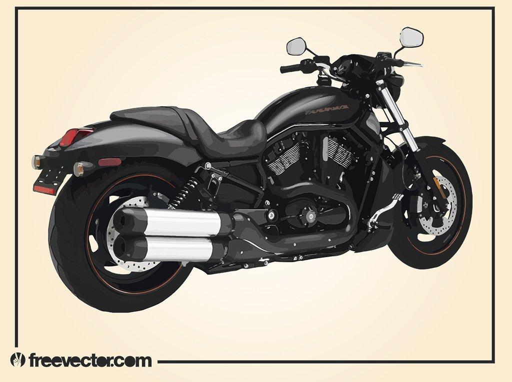 Harley Davidson Motorcycle Vector