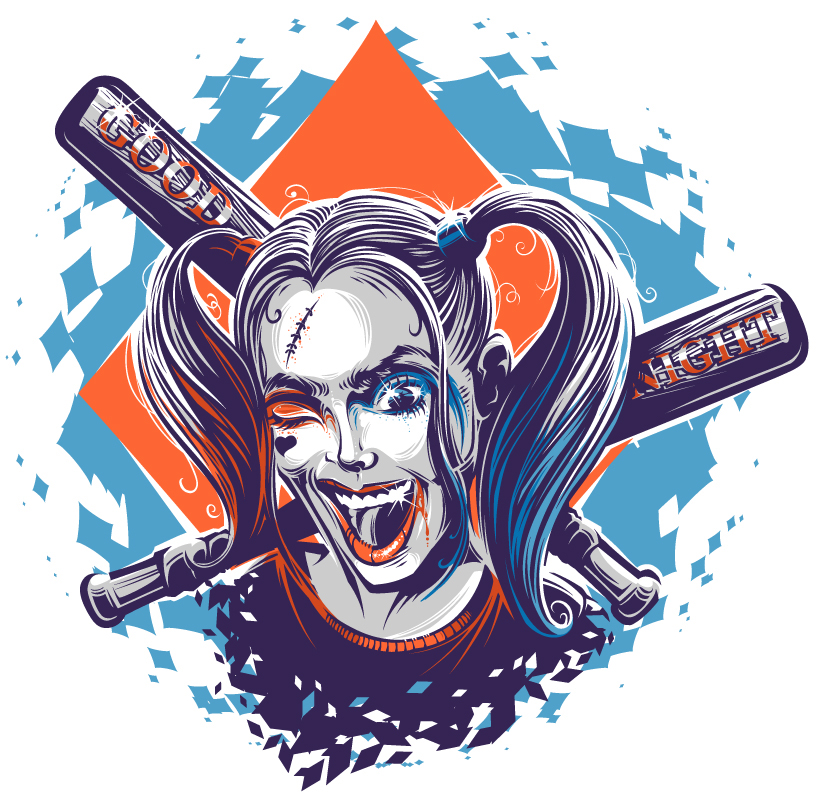 Harley Quinn Vector at GetDrawings | Free download