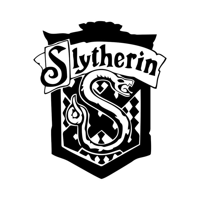 690x690 Slytherin Harry Potter House Badge Crest By Vectordesign On Zibbet
