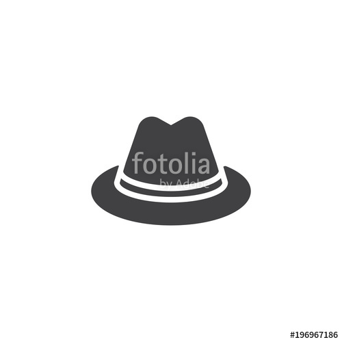 500x500 Detective Hat Vector Icon. Filled Flat Sign For Mobile Concept And