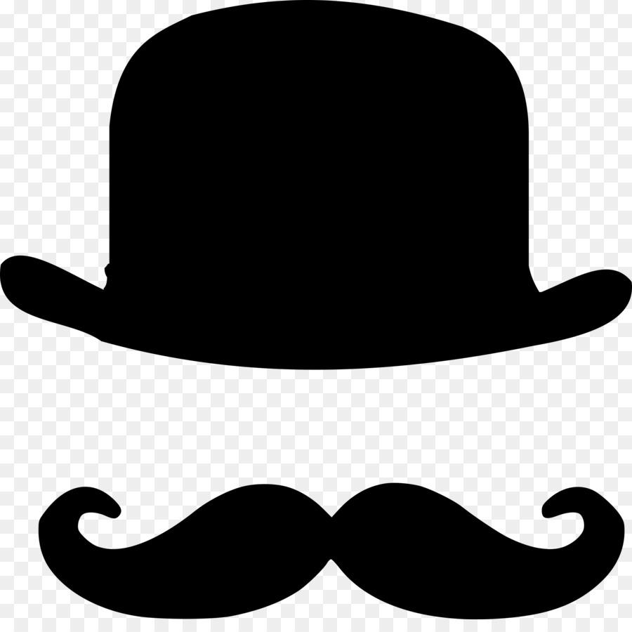 900x900 Download Bowler Hat Moustache Top Hat Clip Art Mustache Vector